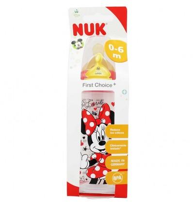 Nuk Biberon Latex Mickey 1M 300 ml