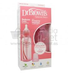 Dr Browns Biberon Rosa Boca Estrecha Pack Duplo