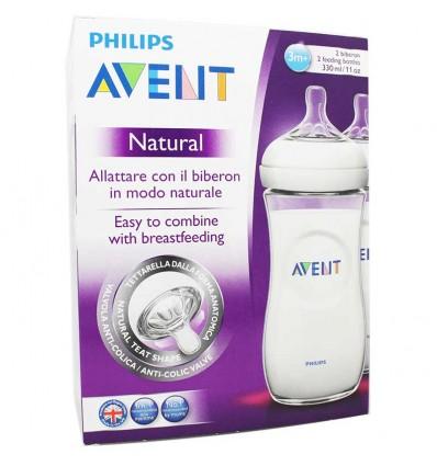Avent Natural Biberon 330 ml Duplo Formato Ahorro