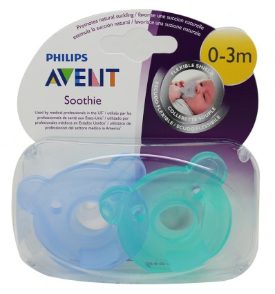 Avent Chupetes Soothie 0-3 Meses azul
