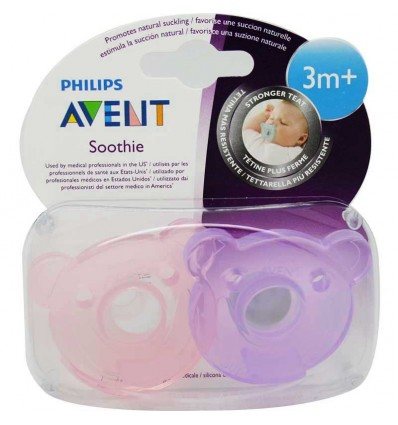 Avent Chupetes Soothie 3 Meses rosa