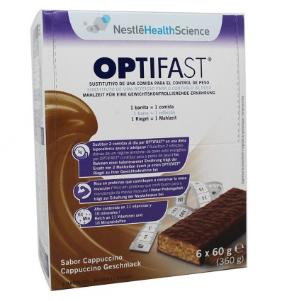 Optifast Barritas Capucino 6 unidades
