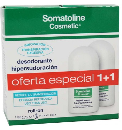 Somatoline Desodorante Hipersudoración Roll-on 30ml Duplo