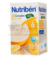 Nutriben Cereales Papilla 8 Cereales y Miel Efecto Bífidus 600g