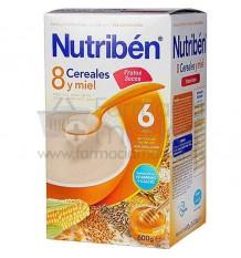 Nutriben Cereales Papilla 8 cereales y miel frutos secos 600g