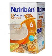 Nutriben Cereales Papilla 8 cereales y miel galletas Maria 600g