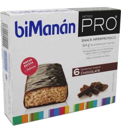 bimanan pro barrita chocolate 6 unidades