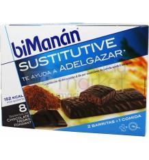 Bimanan Sustitutive barritas Chocolate Negro Fondant 8 unidades