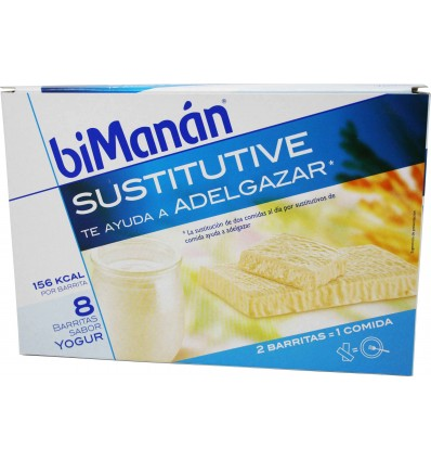 Bimanan Sustitutive Barritas yogur  8 unidades