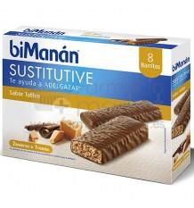 Bimanan Sustitutive Barritas Toffee  8 unidades