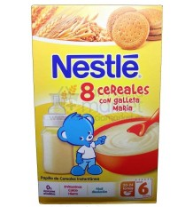 Nestle Cereales Papilla 8 Cereales galleta 600g