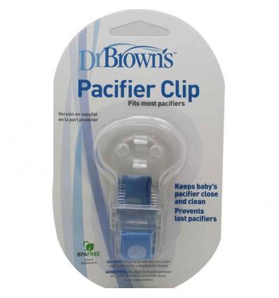 Dr Browns Broche clip sujeta chupetes azul