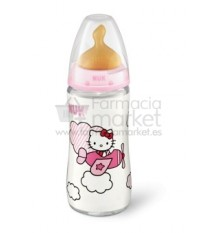 Nuk Biberon Latex Hello Kitty Rosa T1 300 ml