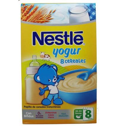 nestle cereales papilla 8 cereales yogur