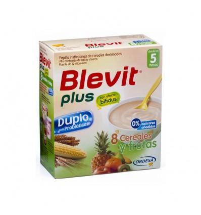 Blevit Plus Duplo 8 Cereales Frutas 600 g