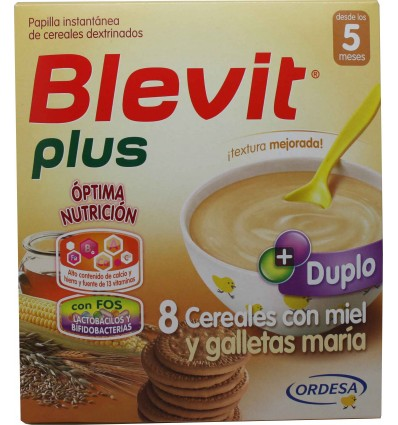 Blevit Plus Duplo 8 Cereales Miel Galleta 600 g