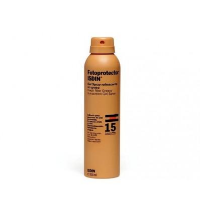 Fotoprotector Isdin 15 Gel Spray Transparente 200 ml