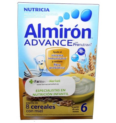 Almiron Advance Cereales Papilla 8 cereales miel 500 g
