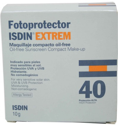 Fotoprotector Isdin 40 Compacto oil free maquillaje