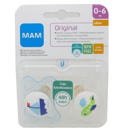 Mam Baby Chupete Original Latex 0-6 meses azul