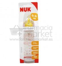 Nuk Biberon Latex Cristal 1M 240 ml rosa