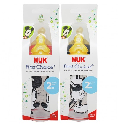 Nuk Biberon Latex Mickey 2L 300 ml
