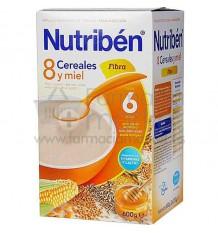 Nutriben Cereales Papilla 8 cereales miel fibra 600 g