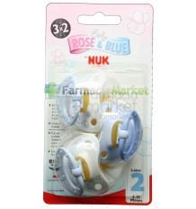 Nuk Chupete Latex Blue T2 6-18 3x2 unidades