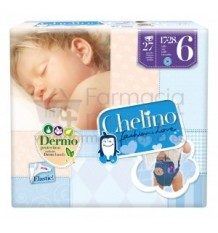 Chelino Pañal bebe talla 6 17-28 kg 27 unidades