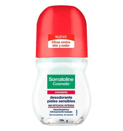 Somatoline Hombre Desodorante Pieles Sensibles Roll On 50 ml