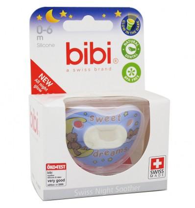 Bibi Chupete Silicona Noche Azul 0-6 meses