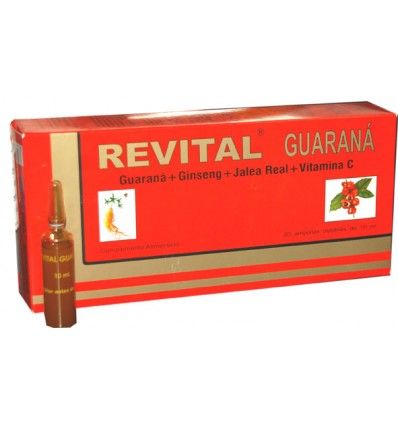 Revital Guaraná 20 ampollas