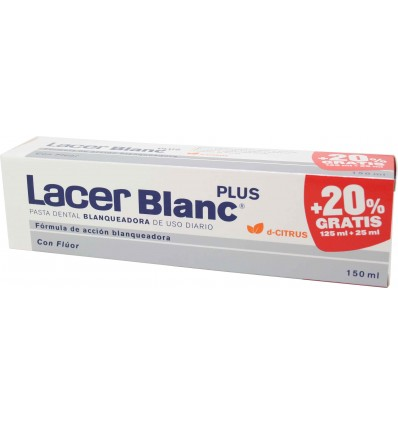 lacer blanc plus pasta dental citrus regalo