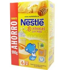 Nestle Cereales Papilla 8 cereales con miel 900g