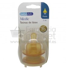 Bebedue tetina latex media