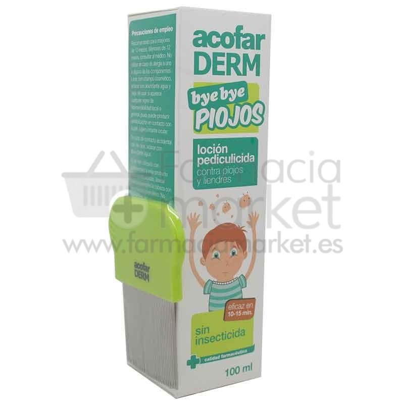 Acofarderm Bye Bye Piojos Locion + Peine