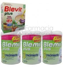 Blemil Plus 3 Crecimiento Pack 3 Latas Cereales