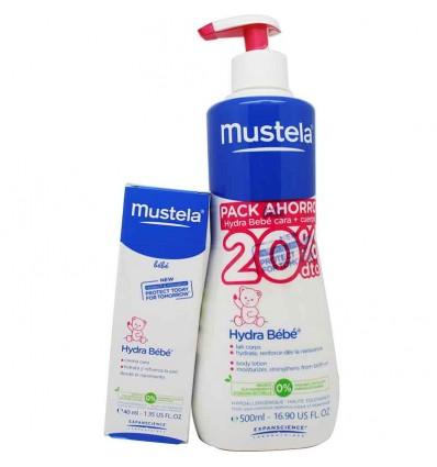 Mustela Bebe Hydra Bebe Cuerpo 500 ml Pack Promocion