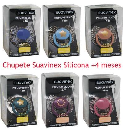 Suavinex Haute Couture Chupete Silicona 4 meses