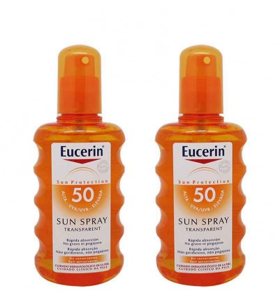 eucerin solar 50 spray transparente 200 ml duplo promocion