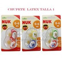 Nuk Chupete Latex Barrio Sesamo 0-6 2 unidades