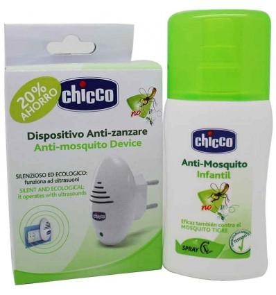 Chicco Antimosquitos Pack Spray Ultrasonidos
