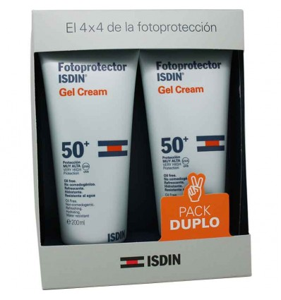 Fotoprotector Isdin 50 Gel Crema 200 ml Pack Duplo Promocion