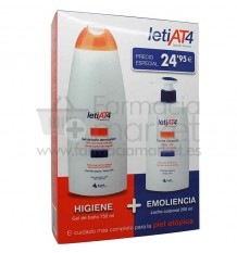 Leti At-4 Leche Corporal 250 ml Gel Baño 750 ml