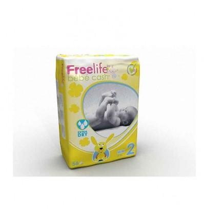 Freelife Bebe Cash Pañal Talla 2 3-6 kg 56 unidades