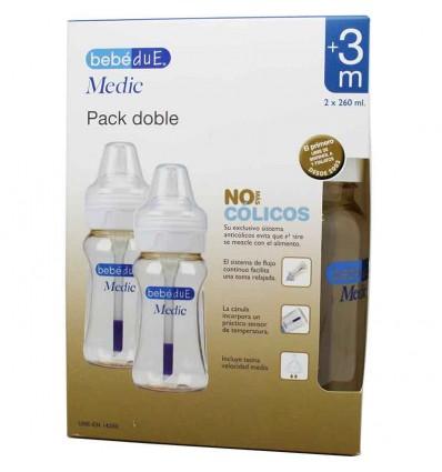 Bebedue Biberones Medic 260 ml Duplo Ahorro