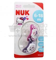 Nuk Chupete Silicona Hello Kitty 6-18 2 unidades