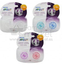Avent Chupetes Translucidos 6-18 meses