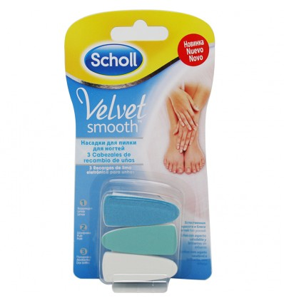 Dr Scholl Velvet Recambios Lima Electronica Uñas 3 Unidades