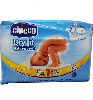 Chicco Pañales Recien Nacido Talla 1 2-5 kg 27 Unidades